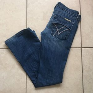William Rast belle flare  jeans w/ accent pockets